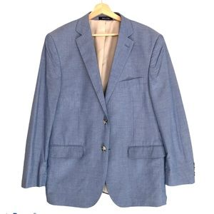 Alan Flusser Blue Blazer Dress Jacket 42R
